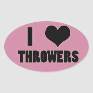 I Heart Throwers, Track and Field Stickers