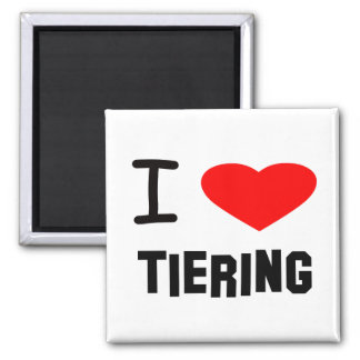 I Heart tiering Square Magnet