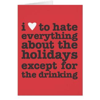 i heart to hate holidays card