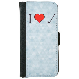 I Heart To Watch Golf iPhone 6 Wallet Case