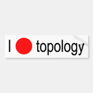 I heart topology bumper sticker