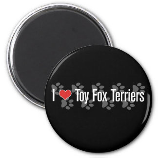 I (heart) Toy Fox Terriers 6 Cm Round Magnet