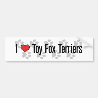I (heart) Toy Fox Terriers Bumper Sticker
