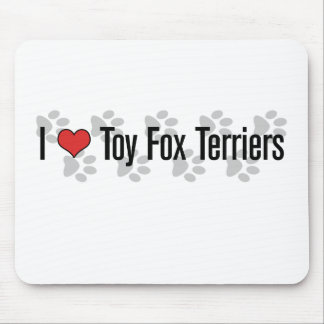 I heart Toy Fox Terriers Mousepads