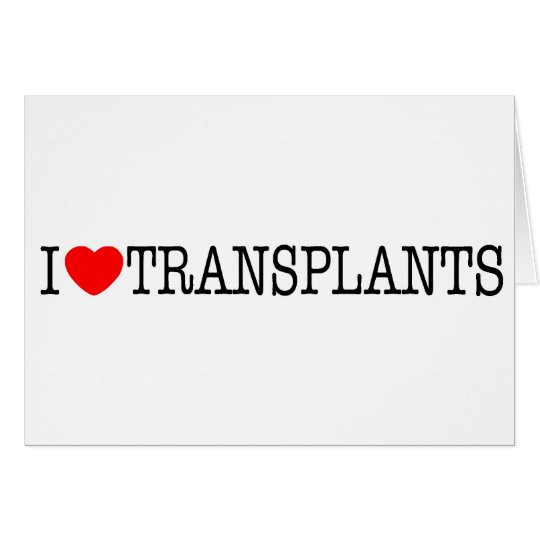I heart Transplants Card