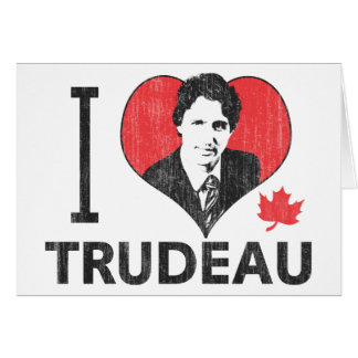 I Heart Trudeau Card
