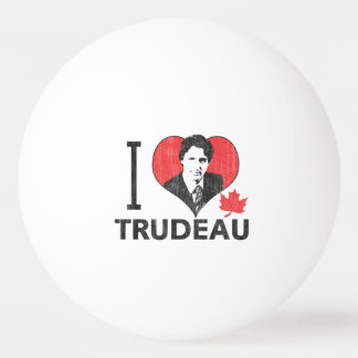I Heart Trudeau Ping Pong Ball