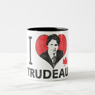 I Heart Trudeau Two-Tone Coffee Mug