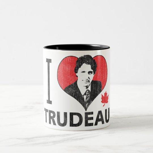 I Heart Trudeau Two-Tone Coffee Mug