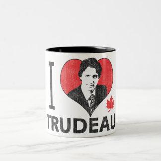 I Heart Trudeau Two-Tone Mug