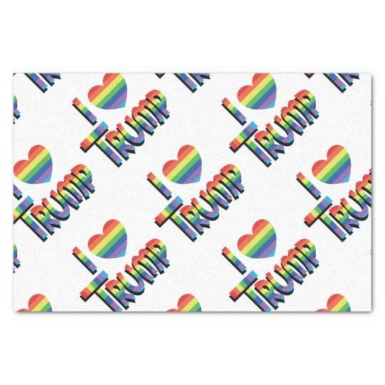 I HEART TRUMP Rainbow Themed Gift Wrap Supplies