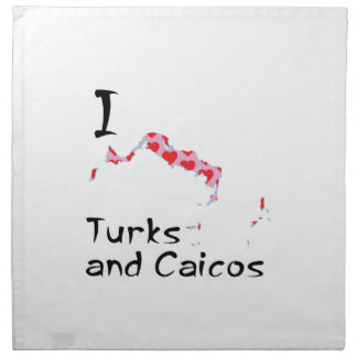 I heart Turks and Caicos Napkin