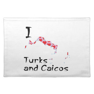 I heart Turks and Caicos Placemat