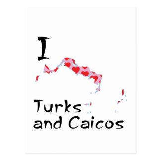 I heart Turks and Caicos Postcard