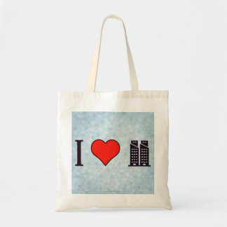 I Heart Twin Towers Budget Tote Bag
