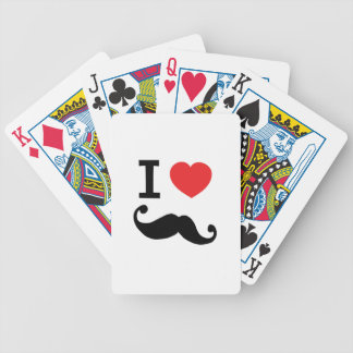 I heart twirly mustache bicycle playing cards