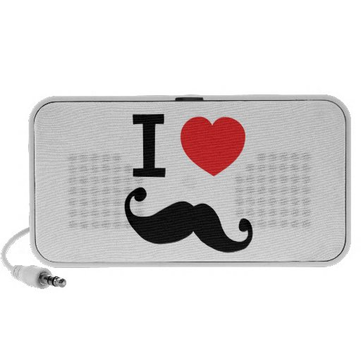 I heart twirly mustache iPhone speakers