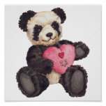 I Heart U Panda Posters