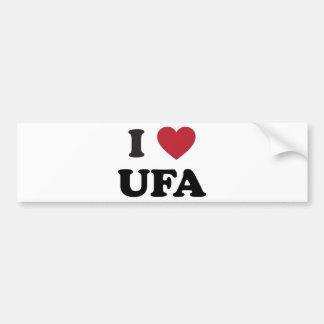 I Heart Ufa Russia Bumper Stickers