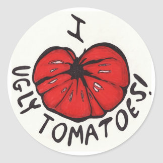 I Heart Ugly Tomatoes! Classic Round Sticker