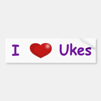 I (Heart) Ukes Bumper Sticker