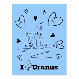 I Heart Uranus Postcard