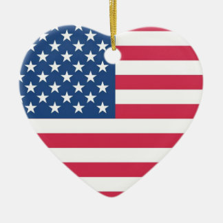 I Heart USA Christmas Ornament