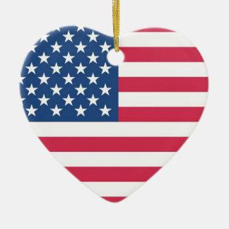 I Heart USA Christmas Ornament