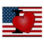 I Heart USA Postcard