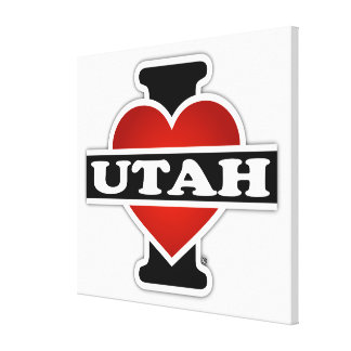 I Heart Utah Canvas Prints