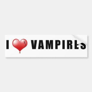 I Heart Vampires Car Bumper Sticker
