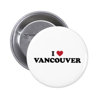 I Heart Vancouver Canada 6 Cm Round Badge