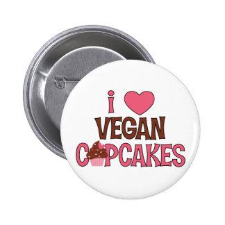 I Heart Vegan Cupcakes 6 Cm Round Badge