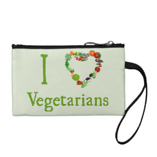 I Heart Vegetarians Coin Wallet