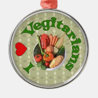 I Heart Vegetarians Ornaments