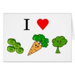 i heart veggies greeting cards