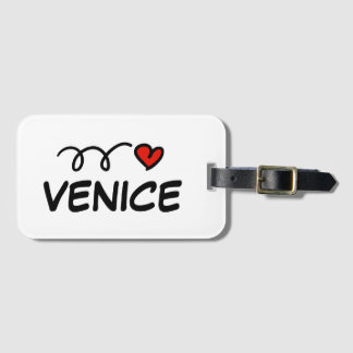 I heart Venice travel luggage tag for suitcases