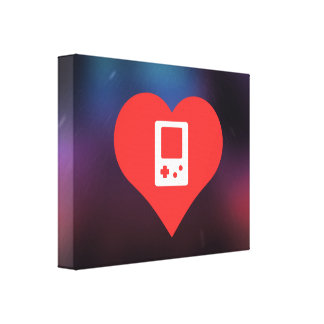 I Heart Video Game Controls Icon Gallery Wrapped Canvas