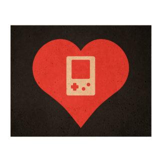 I Heart Video Game Controls Icon Photo Cork Paper