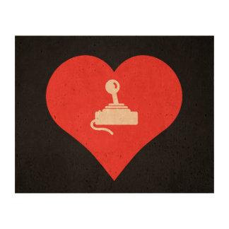 I Heart Video Game Controls Icon Cork Paper Print
