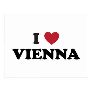 I Heart Vienna Austria Postcard