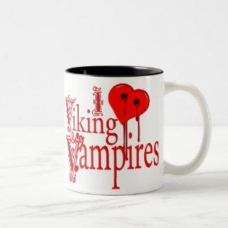 I Heart Viking Vampires Two-Tone Coffee Mug