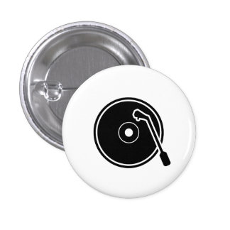 'I Heart Vinyl' Pictogram Button