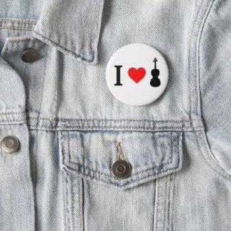 I heart Violin Badge