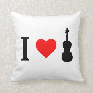 I heart Violin Cushion
