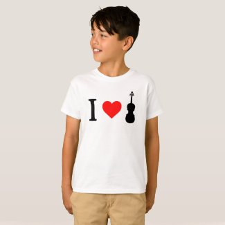 I heart Violin Kid's T-Shirt