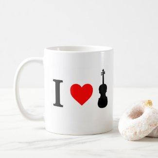I heart Violin Mug