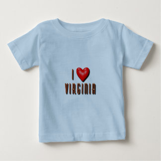 I Heart Virginia Baby T-Shirt