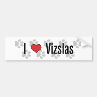 I (heart) Vizslas Bumper Sticker