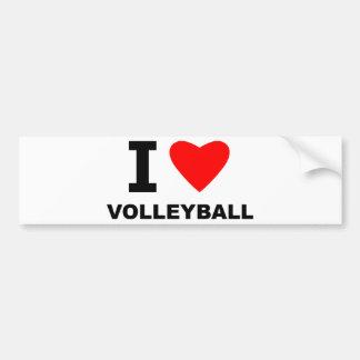 I Heart Volleyball Bumper Sticker